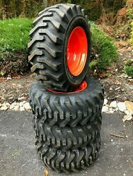 4 New Camso Sks332 12x16.5 Skid Steer Tires And Wheels/rims For Kubota - 12-16.5