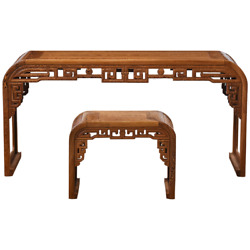Guqin Chinese Musical Instrument Chinese Zither Harp Koto Table / Stool 5182