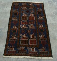 H272 Vintage Afghan Decor Wall Hanging Adam Pictorial War Rug 2and0399 X 4and0398 Ft