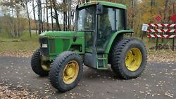 John Deere 6400 Tractor 4wd -former county owned (needs electrical tlc)