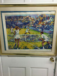 Mark King Mixed Doubles Silk Screen Numered Signed And Mark King Embossed 31 X 25