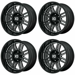 4x Xd Series 20x9 Xd850 Cage Wheels Gloss Black Milled 8x180 +0mm Offset 5.00