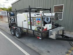 Hot Water Pressure WasherSoft Wash Trailer Mounted-8gpm4000psi-Honda GX690
