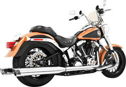 Freedom Racing Dual Exhaust System Chrome Harley Softail 86-17