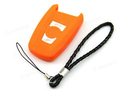 Orange Silicone Case Cover Fit For BMW 5 7 Series Remote Smart Key 3 Buttons B5O