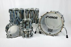 Sonor SQ2 6 pc Maple Thin/Med(bd) Stratawood Semi Gloss In&Out 22,8,10,12,14,16