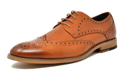 Bruno Marc Mens Classic Oxford Shoes Genuine Leather Casual Shoes Dress Shoes $19.50