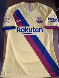 Barcelona Away 2019 Player Issue Match Worn Samuel Umtiti With Video Proof
