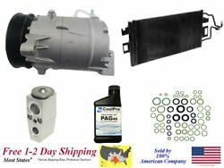 New A/c Ac Compressor Kit With Condenser For 2006-2009 Impala 5.3l Only