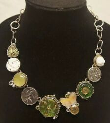 ❤️mars And Valentine Sterling Silver Flores Necklace The Dreamer Green Czech Glass