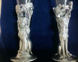 Vintage Disney Champagne Glasses Lady And The Tramp New