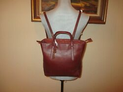 Fossil Camilla Leather Convertible Small Backpackshoulder And Satchel Bag