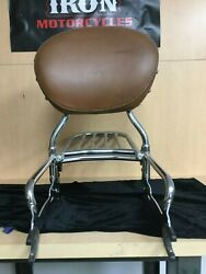 Indian Motorcycle Passenger Backrest,tan Pad And Luggage Rack For 2017 Vintage H1