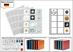 5 X Look 1-7400 Coin Sheets Premium 0 15/32x1 31/32x1 31/32in For Lindner Holder
