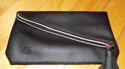 Crabtree amp; Evelyn Large Cosmetic Bag Zip Makeup Travel Case Black 11quot; x 9quot; $14.99