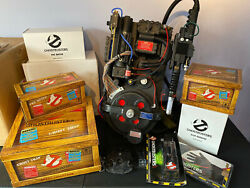 GhostBusters Full SIze Humming Proton Pack with Matty Wand & Trap PKE Goggles