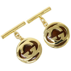 Gucci Logo Design Cufflinks in 18k Yellow Gold wBoxBag D6593 $999.00