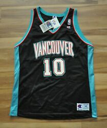 Mike Bibby Vancouver Grizzlies Spell-out Champion Jersey Men Black 48 Xl New