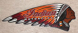 Indian Motorcycle Vintage Style. Metal Tin Signs Scout Harley Man Cave Chopper