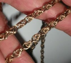Antique 20kt Rose Gold Fancy Link Endless Chain Unisex Heavy 28.1g Perfect Gift