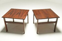 Capella Series Rosewood Side Tables By Illum Wikkelso Vintage Mid-century Modern