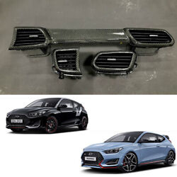 Real Carbon Dash Board Air Blower Oem Parts For Hyundai Veloster 20182019+