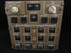 Boeing 747-400 Electrical Power Standby And Apu Start Panel From A Retired Jet