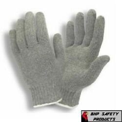 300 Pair Gray String Knit Gloves Cotton Polyester New Grey