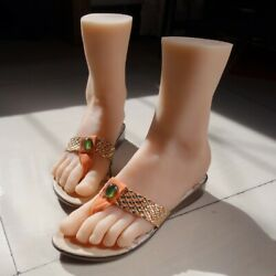 Vivid Top Quality Silicone Girl Feet Model Vertical Foot Mannequin Flats Size 39