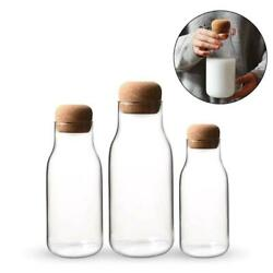 Glass Jars Mason Transparent Storage Can Cork Stopper Small Bottle Containers