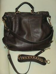 ELLIOTT LUCCA Leather Convertible Reversible Purse satchel Backpack $53.00