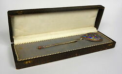 Spoon Russia 84 Silver Gold Plated Enamel