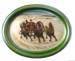 Seltenes Tray Russia Moscow Lukutin Court Purveyor About 1870 Russia Troika
