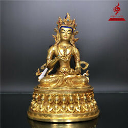 14and039and039 Nepal Top Quality Vajrasattva Buddha Silver Plated Copper Statue