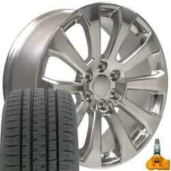 22x9 5922 Rims, Bda Tires, Tpms Fit Chevrolet And Gmc Polished High Country Set