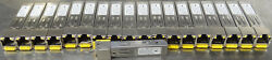 Lot Of 19 Avago Force10 Abcu-5710rz-ft1 Transceiver Gp-sfp2-1t-mfgr1