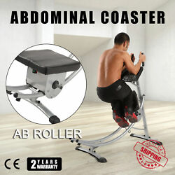 Abs Abdominal Exercise Machine Crunch Coaster Fitness Body Muscle Workout yt