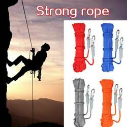 Rock Climbing Rope Gear Outdoor Survival Fire Escape Safety Ropes Carabiner Lot