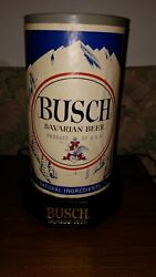 Busch Bavarian Beer Sign Rotating Antique Vintage Prob. 50's Or 60s Not Work