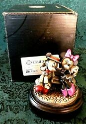 Disney Chilmark Pewter Mickey And Minnie Mouse First Date Le 353/500 Nib