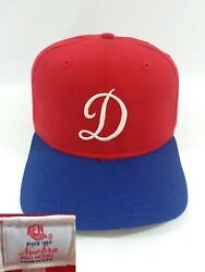 Vintage Early 90's Dodgers Rare Alternative Art Fitted New Era Pro Model Hat Cap