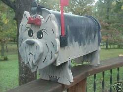 Yorkie Terrier Mailbox Custom Dog Mailboxes Postal Mail Box Animal Dogs Puppy