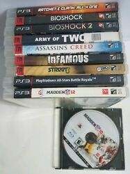 Ratchet And Clank, Bioshock, Assassins Creed, Fifa Street, And More- 10 Ps3 Game Lot