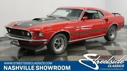 1969 Ford Mustang Mach 1 fastback pony Candy Apple Red black vinyl interior chrome vintage classic FoMoCo