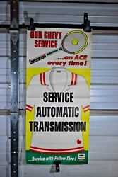 1980 3 Foot Chevy Dealership Chevrolet Tennis Ace Auto Transmission Poster Sign