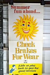1980 3 Foot Chevy Dealership Service Chevrolet Summer Fun Ahead Sun Poster Sign