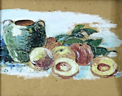 The Nature of the Paul Cezanne - Still Life with Peaches and Krug