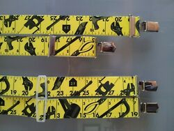 Trouser Braces Printed 35mm With 4 Heavy-duty Quality Clips Classic Suspenders