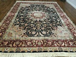 8' X 10' Vintage Hand Made Fine Chinese Oriental Wool Rug Silk Hand Knotted Nice