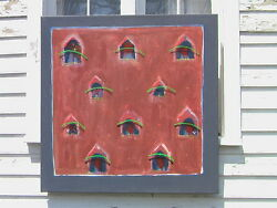 EXODUS TO SANTA FE, ABSTRACT ILLUSIONISM PAINTING by MARK ELLIOT FLOWERS, 1987!!